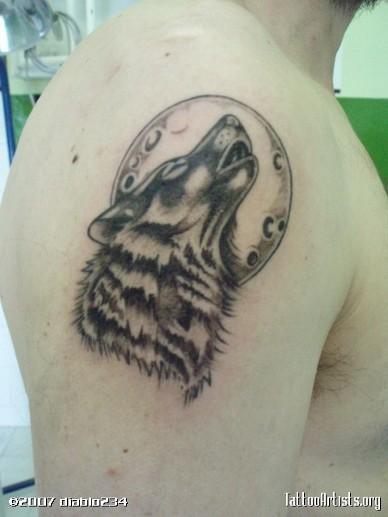 Маленькие тату волка 53
